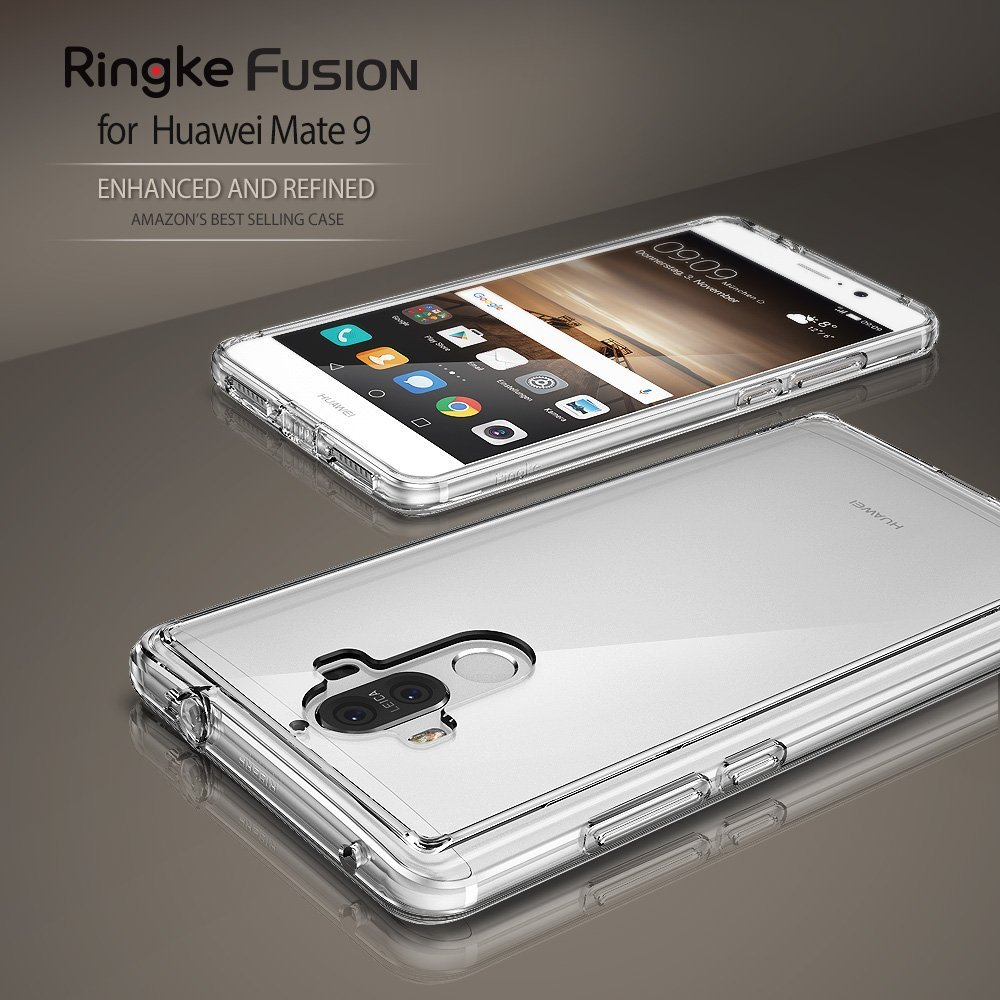 Ringke Fusion Huawei Mate 9 Case Clear Tough PC Back Panel TPU Edge MIL STD Drop