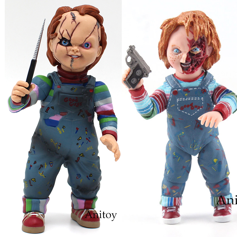 Child's Play Bride of Chucky Good Guys Accessories 1/10 Scale Horror Doll Chucky PVC Action Figure Toy 12cm elsadou neca chucky action figurs child s play doll with retail box 15cm