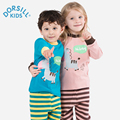 Dorsill New Winter Children's Sleepwear Cotton Soft and Comfortable Kids Long Johns Warm Long Sleeve Boys and Girls Pajamas