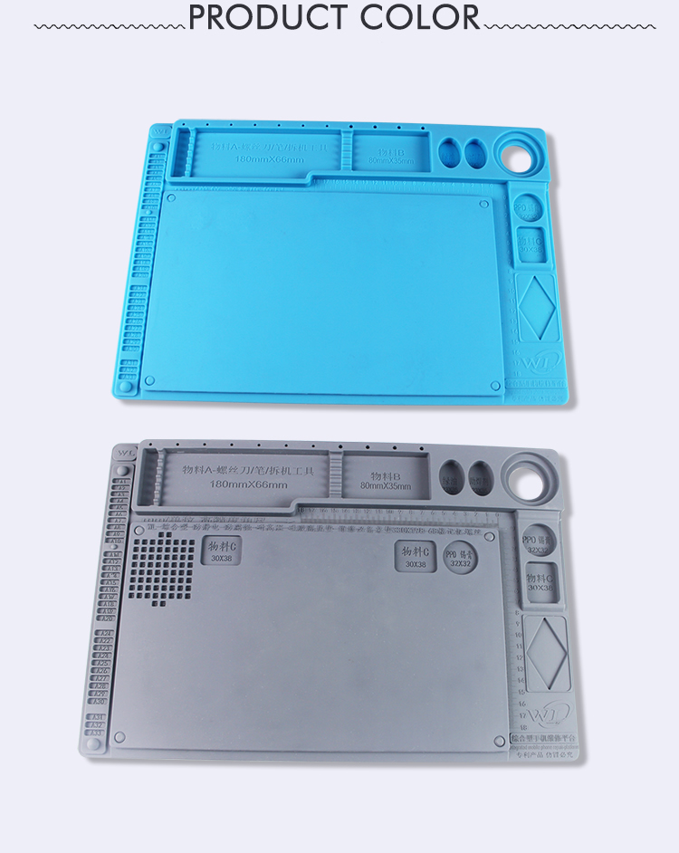 DIY repair maintenance work mats Heat Insulation Silicone Pad for mobile phone repair platform