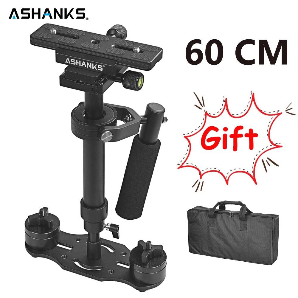 S60 handheld steadycam dslr câmera estabilizador S-60 + mais 3.5kg 60cm filmadora steadicam de alumínio para fotografia filme vídeo dhl