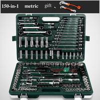 150 in 1 Combination Repairing Kit Handtool Set for Auto Motorcycles Generator Engine Tyre Metric Professional Hand Tool