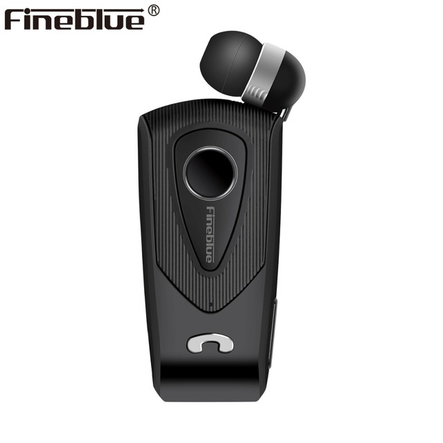 Fineblue F930 Wireless Bluetooth Earphone telescopic Business Handsfree Calls Remind Vibration Wear Clip Driver Stereo sport MIC