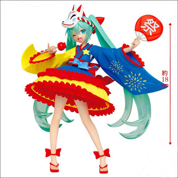 Vocaloid figure 2nd Season Summer Ver. Hatsune Miku action figure PVC model Figurals Dolls Brinquedos anime vocaloid hatsune miku figma ex 037 twinkle snow ver figma 307 pvc action figures collectible model kids toys doll 14cm
