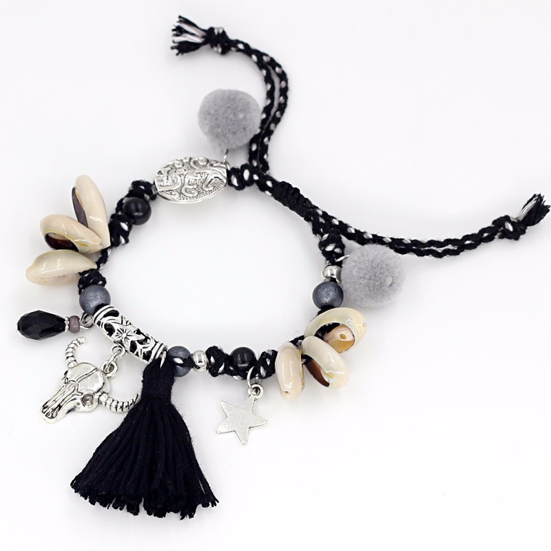 VONNOR Jewelry Women's Bracelets Bohemian Colorful Accessories Handmade Beads Shells Alloy Pendant Friendship Strand Bracelets 4