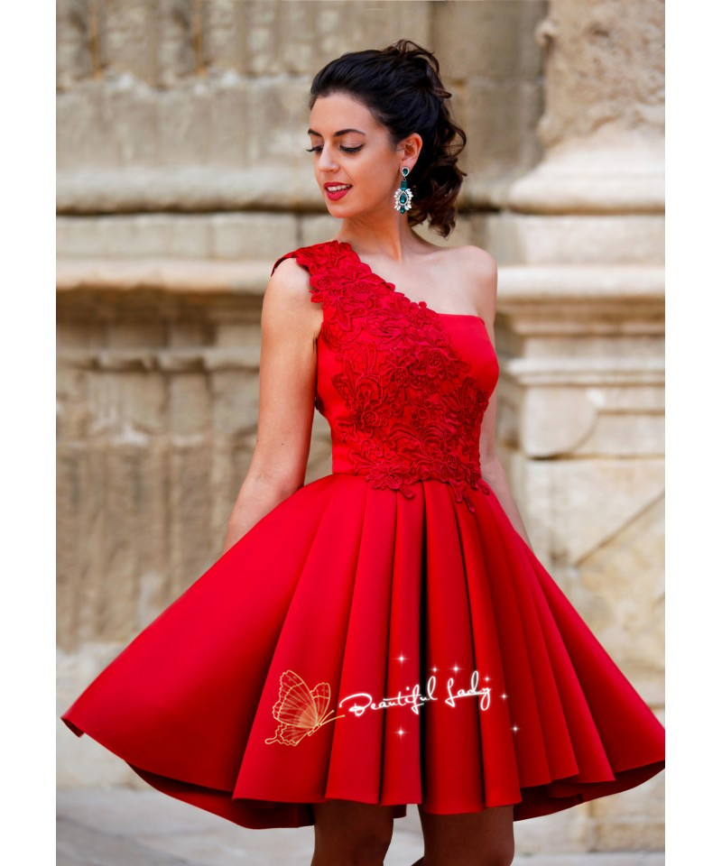 Aliexpress.com : Buy Hot Red Short Prom Dresses With Lace Top ...