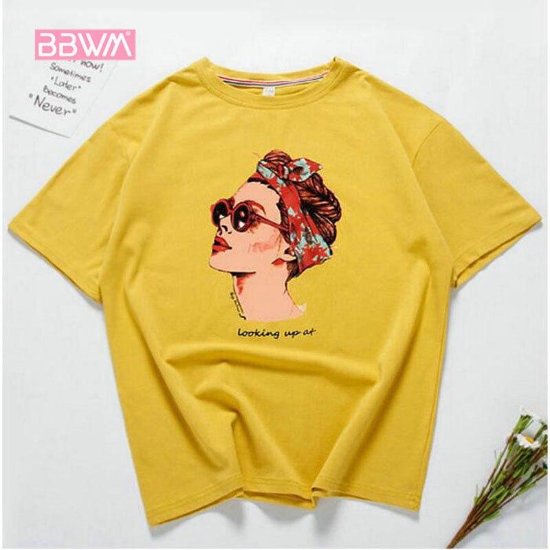 ווג מצחיק מזדמן נשים חולצות כותנה קיץ חולצת טריקו אישה ורוד צהוב שחור 2018 חדש צוואר עגול הדפסת avatar