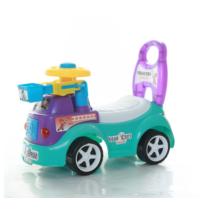Children's twisting, car four-wheel baby scooter can sit walkers stroller walk car people take 1-3 years old music