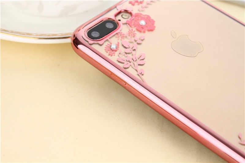 Новый модный роскошный ТПУ чехол для iphone 7 Plus, 5,5 дюйма, прозрачный горный хрусталь, Мягкая силиконовая задняя крышка, мобильный телефон, защитный чехол