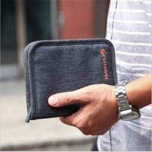 Travel Women Men Short  Passport Bags Holders Organizer Wallet Purse Card Case Free shipping