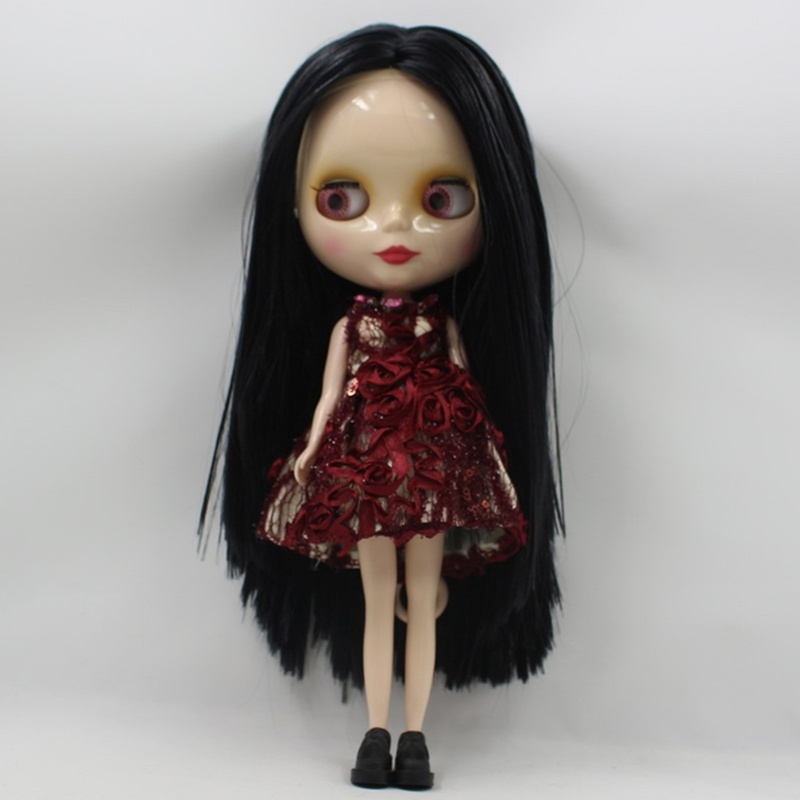 ICY Nude Factory Blyth Doll Series No 230BL117 Black hair with bangs white skin Neo