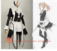 2017 New Clothes Anime Maid Fire Emblem Fates Flora Dress Suit Uniform Party Cosplay Costume Dress