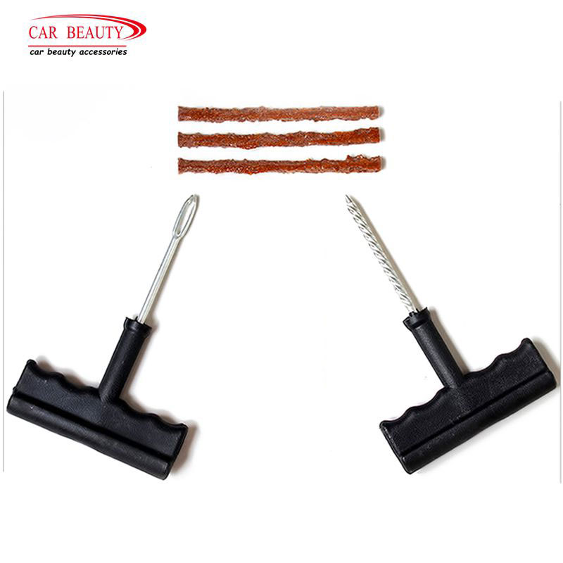 5Pcs/Set Tubeless Emergency Tyre Repair Tools Kit For Car Trunk Motorcycle Tire Puncture Plug Repair Strips Auto Supplies