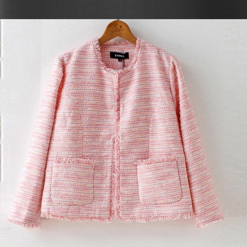 Popular Pink Tweed Jacket-Buy Cheap Pink Tweed Jacket lots from ...