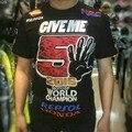Free shipping 2016 Black MARC 93 MARQUEZ WORLD CHAMPION  FOR HONDA MOTO GP t-shirt camiseta GIVE ME 5 MOTO racing jersey
