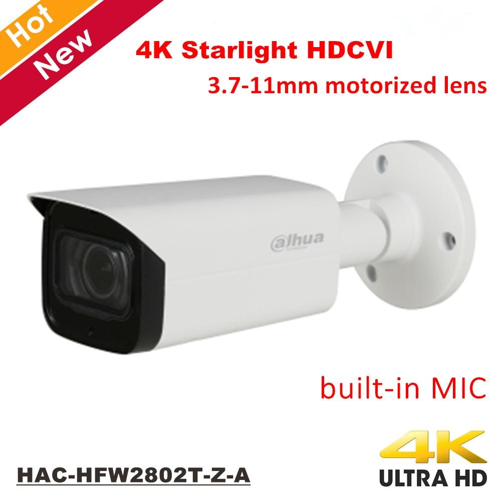 Dahua 4K Starlight HDCVI Camera Smart IR Suivillance Camera Built in Mic IP67 Coaxial Camera 3