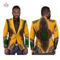 Мужчины Dashiki Африканских Одежды Slim Fit Блейзер Мужчины Бренд-Одежда Мужчины Костюм Пальто Красный Бархат Пиджак Африканских Мужчин, Одежда 6XL WYN169