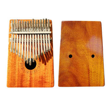 Gecko K15K 15 key Kalimba Solid KOA African Thumb Piano Finger Percussion Keyboard Kids Natural