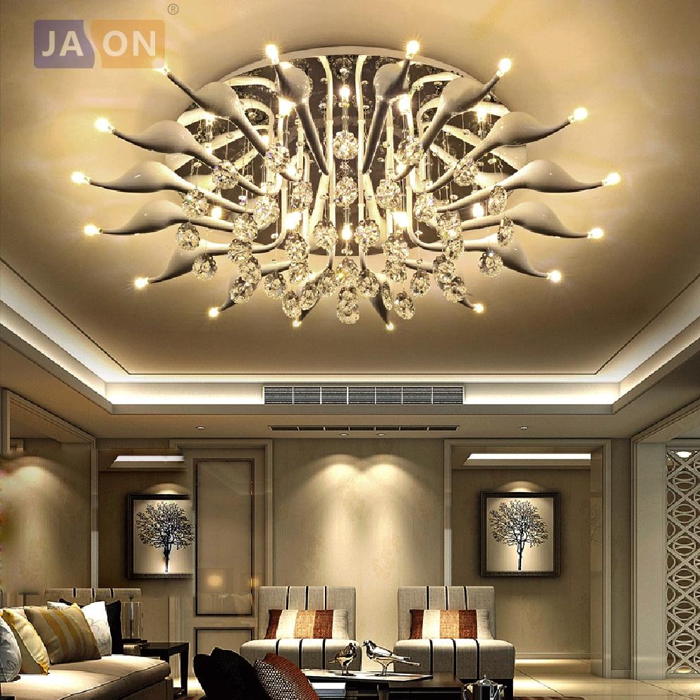 G4 LED Современные Железные Кристалл Белый лебедь Светодиодные Лампы.Светодиодные Светильники.Люстры Потолочные.Светильники Потолочные Све