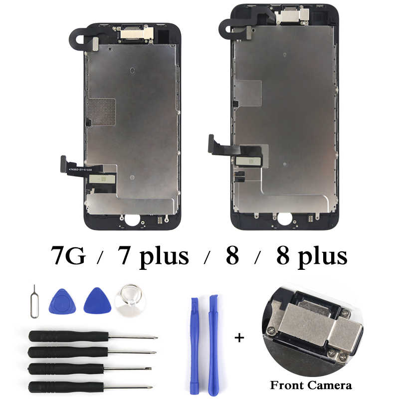 best website b69a0 a14ad Phone Display Repair Replacement For iPhone 7 7P 8 8P LCD Touch Screen +  Front Camera No Home Button With Parts Full Assembly
