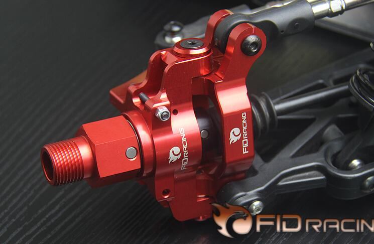 FID CNC alloy hydraulic brake version front axle housings wheel hub carrier include extenders for LOSI DBXL 1/5 rc car gas fid rear axle c block for losi 5ive t mini wrc
