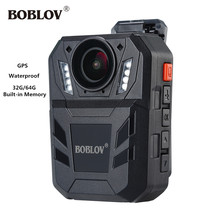 цена на BOBLOV Full HD 1296P GPS Camera Night Vision Waterproof IR Infrared Video Recorder Surveillance Body Worn Security Camcorder