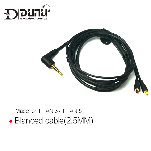 DUNU Original 2.5mm 3.5mm Balanced Earphone Cable made for TITAN3 / TITAN5 2