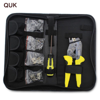 QUK Wire Crimpers Terminal Crimping Pliers Engineering Ratcheting Bootlace Ferrule Crimper Tool Cord End Terminals Press Pliers