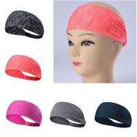 5 개 새로운 야외 사이클링 모자 넓은 스포츠 머리띠 스트레치 탄성 요가 실행 Headwrap 헤어 밴드 A2