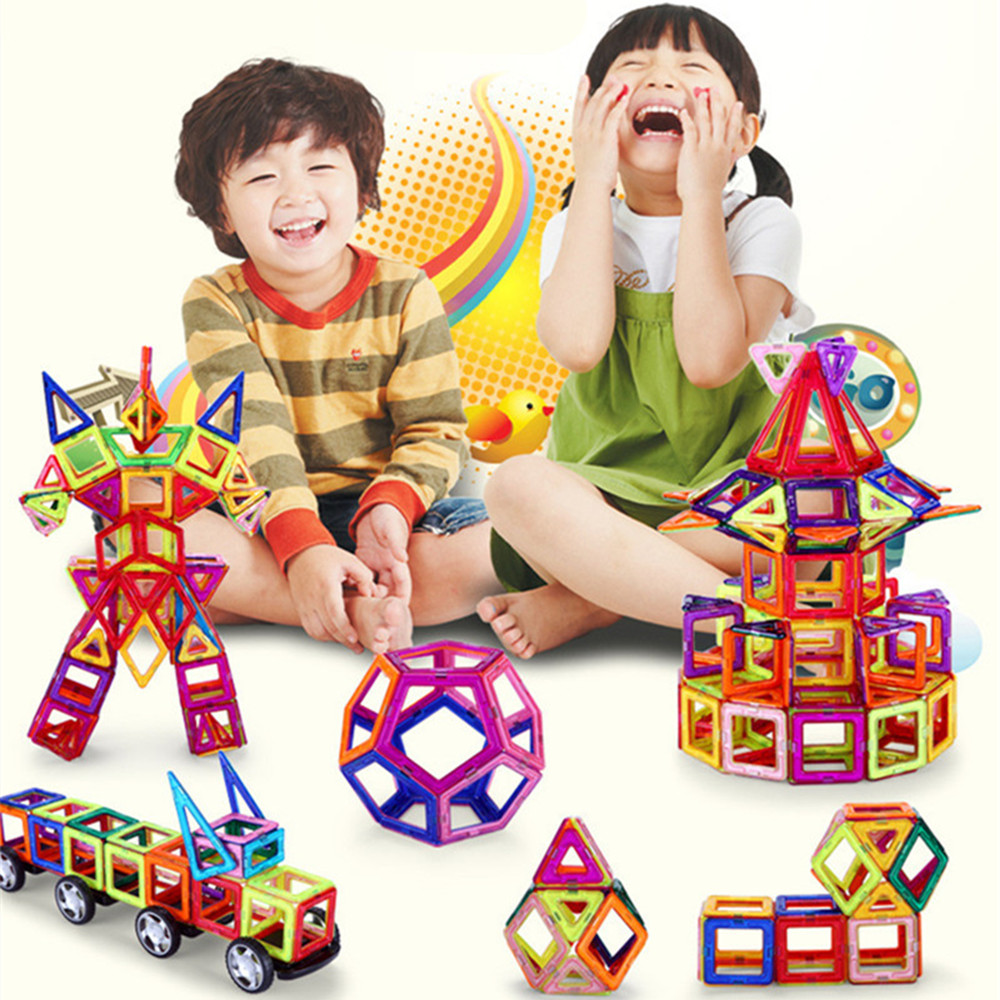 Kids Toys 91PCS Magformers Enlighten Bricks Educational Magnetic Designer Toys 3D DIY Building Blocks For Children Toys 128pcs military field legion army tank educational bricks kids building blocks toys for boys children enlighten gift k2680 23030