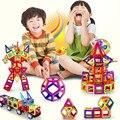 Crianças brinquedos 91 pcs enlighten bricks educacionais magformers magnéticos designer toys 3d diy blocos de construção para as crianças brinquedos