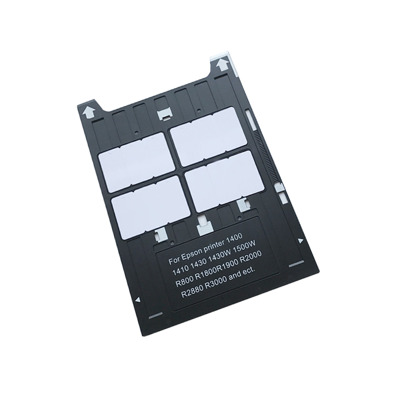 PVC ID Card Tray Plastic card Printing Tray for Epson 1400 1410 1430 1430W 1500W R800 R1800 R1900 R2000 R2400 R2880 R3000 100pcs lot printable pvc blank white card no chip for epson canon inkjet printer suitbale portrait member pos system