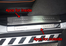 4pcs for Dongfeng AX7 Threshold bar Welcome pedal protect Decorative cover