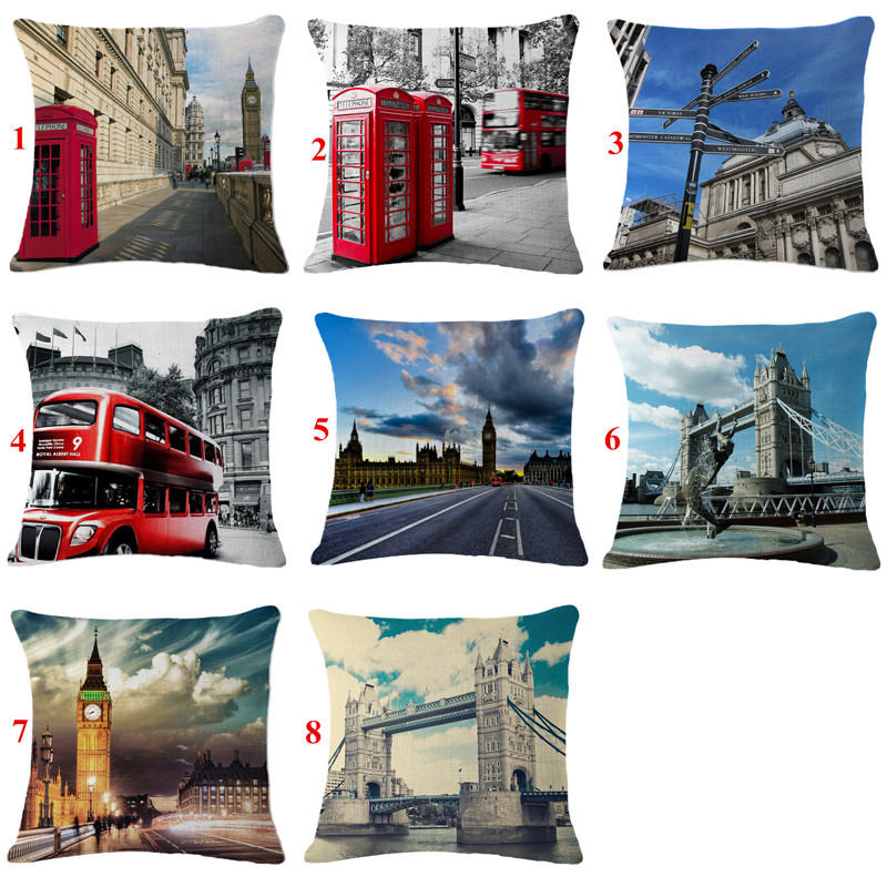 Store Cushion Covers London Building Kussenhoes Square