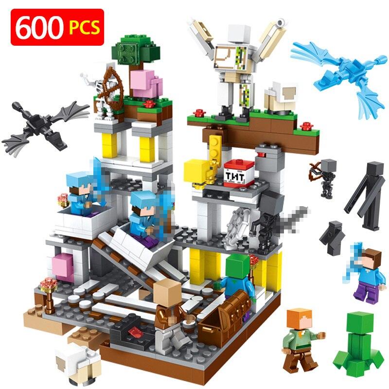 2018 nuevo mi mundo bloques técnica fiesta Compatible LegoINGLYS Minecrafted arma nueva mina explosivo ladrillos juguetes para niños de regalo