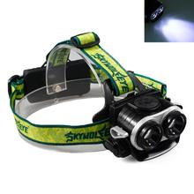SKYWOLFEYE F522 LED 2X XM-L T6 1000lm Double Head Headlamp USB Rechargeable Zoomable Headlight for Outdoor