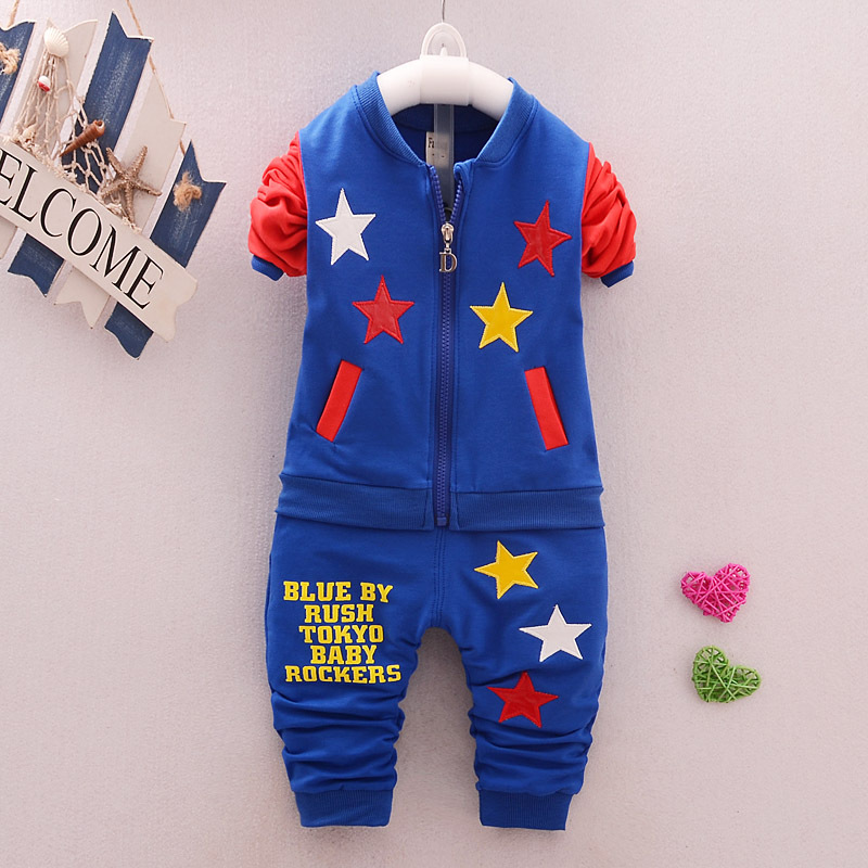 Kids Clothes 2017 Baby Boys Spring Coats and Jackets Pants 2Pcs Set Children Clothing Fashion Leisure Sports Suit Girls Clothing  недорого