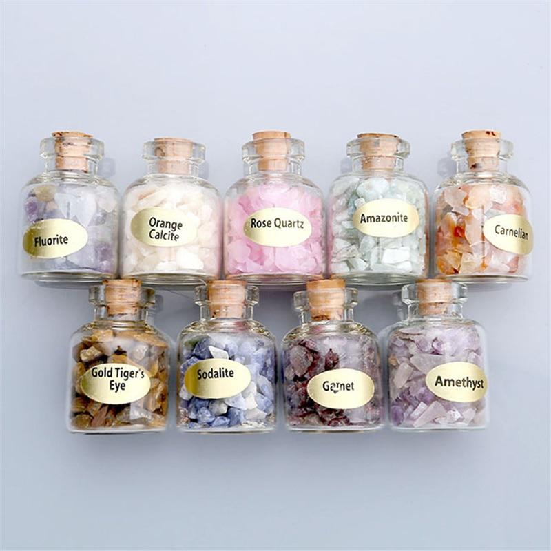 9 Bottles of Natural Semiprecious Gem Stones 5