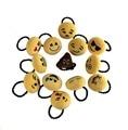 10 PÇS/LOTE 6 Cm Emoji Hairbands Rodada de Pelúcia Expressão Dos Desenhos Animados Do Bebê Por Atacado Da Menina Do Cabelo Bow