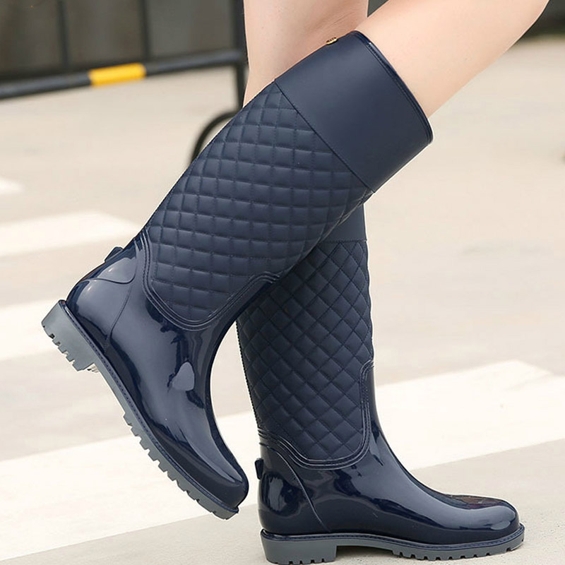 2018 new women rain boots lady rain water shoes ourdoor rainboots  Italianate Pvc rubber rainboots lady Waterproof shoes