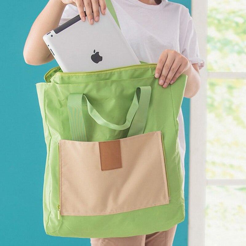 Women Folding Travelling Waterproof Tote Bag Female Large Nylon Shoulder Bag travel Bag Luggage Handbags