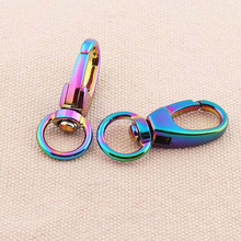 10pcs HOT Fashion Rainbow Color 39mm(1.5inch) metal swivel Snap Hooks buckles for DIY accessories
