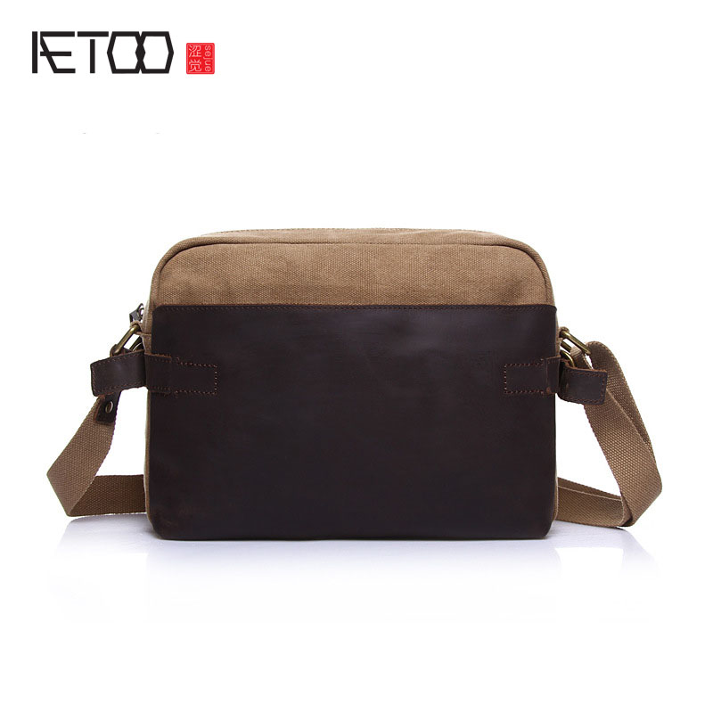AETOO New canvas bag women shoulder bag cross section Oxford cloth fashion Japan and South Korea shoulder oblique cross package aetoo summer new shoulder bag women japan and south korea version of the pu backpack female tide fashion simple casual mini bag