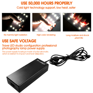 Image 5 - Travor صندوق إضاءة 80*80 سنتيمتر المحمولة سوفت بوكس صور LED صندوق إضاءة خيمة مع 3 ألوان خلفية ل استوديو التصوير صندوق إضاءة