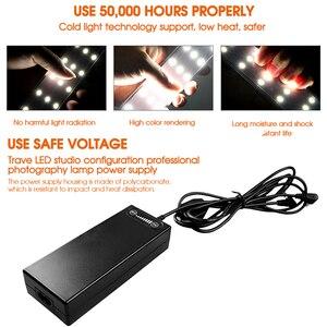 Image 5 - Travor Light Box 80*80 CENTIMETRI Softbox Portatile Foto Lightbox LED Tenda Con 3 Colori di Sfondo Per La Fotografia In Studio scatola di illuminazione