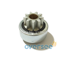 OVERSEE 6N7-81807-00 Start Motor Pinion Gear  for Yamaha Outboard Engine 200HP Startor Motor New 6N7
