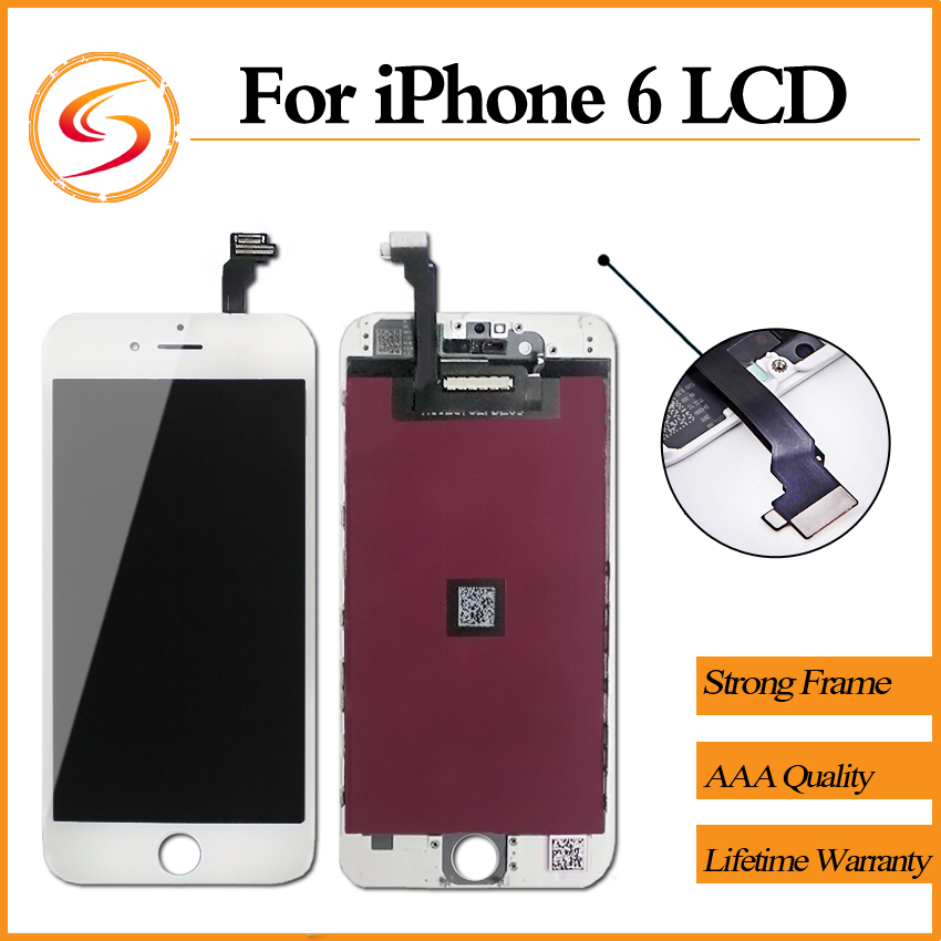 Prix pour 10 PCS/LOT Pour iPhone 6 LCD 100% Tout Neuf Avec Écran Tactile Digitizer Assemblée Affichage De Remplacement Livraison Gratuite