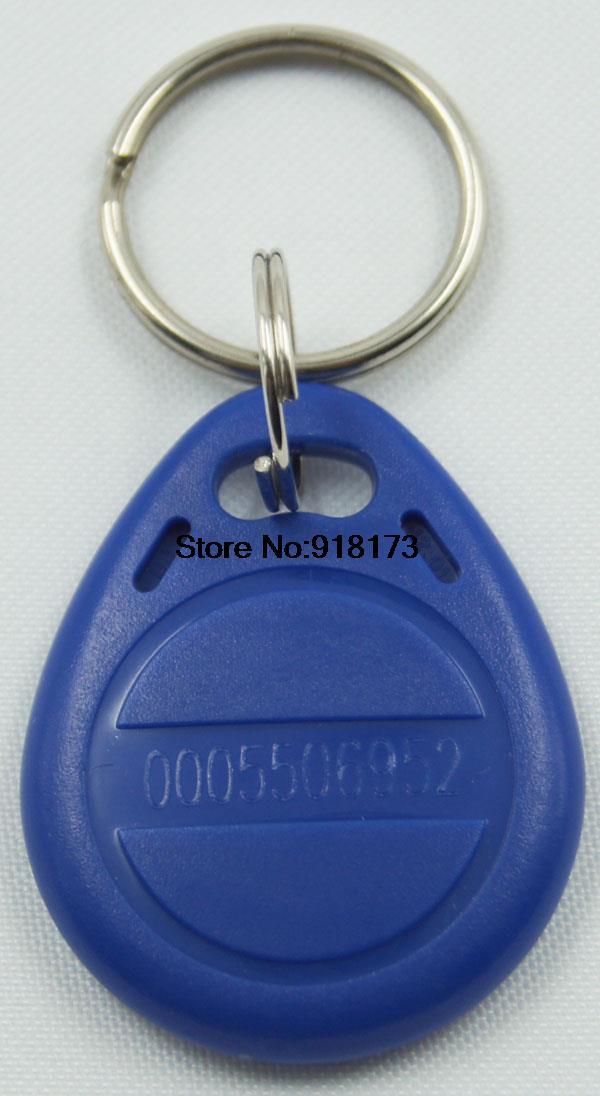 500pcs/lot 125Khz RFID Proximity tag Keyfob token Access Control Rfid key fob blue rfid key fob 13 56mhz proximity abs ic tags fm1108 1k tag door lock access controller token