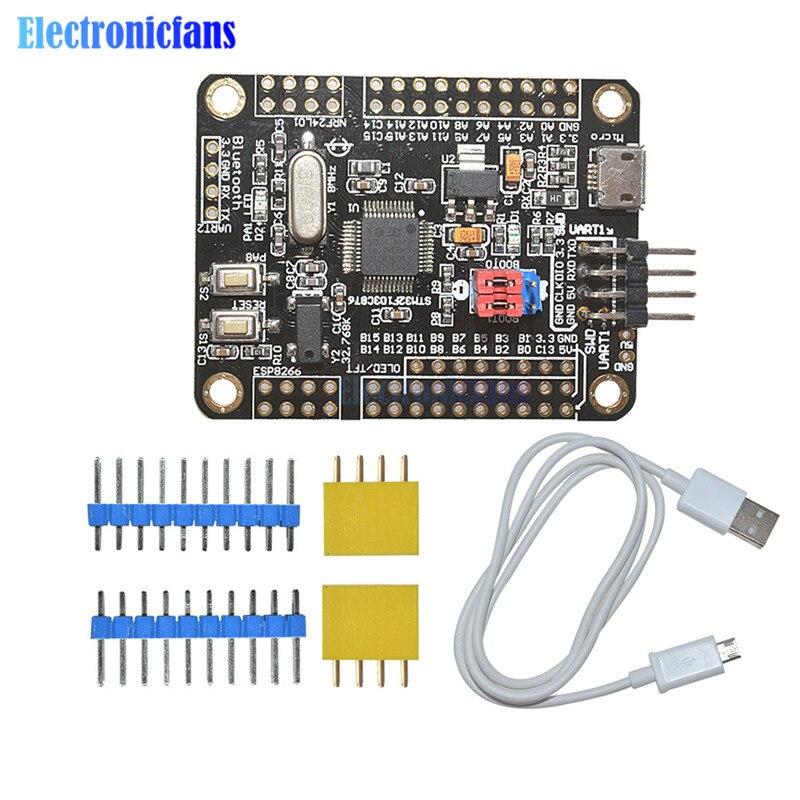 US $4 3 9% OFF|1 Set STM32F103C8T6 ARM Mini system Development Board STM32  Core Board Module 5V WIFI ESP8266 NRF24L01/WS1053/W5500 interface-in
