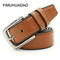 Adult Waist Belt 2016 Hot Fashion Alloys Cowhide Leather Men Belt Designer Luxury Famous High Quality Pin Buckle Belts For Men